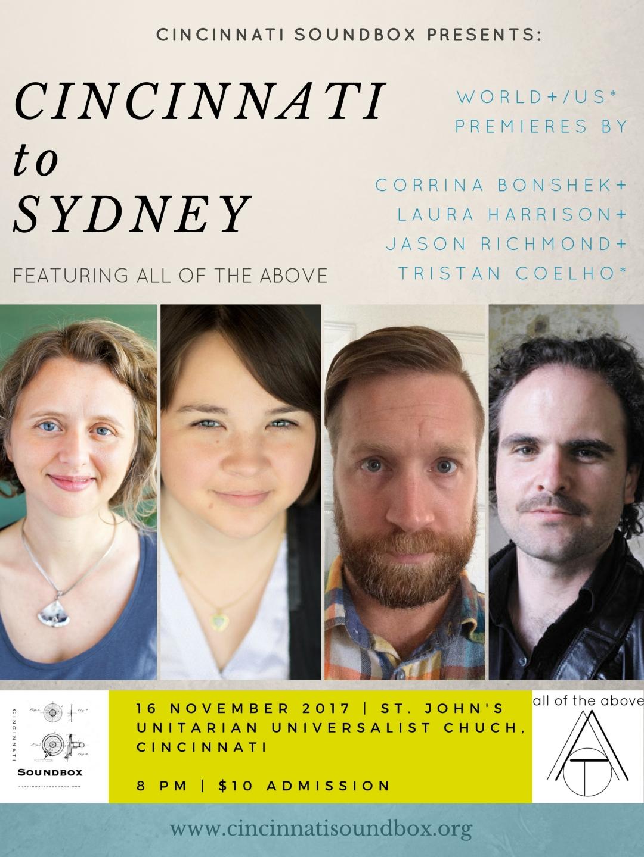 CSB- Cincinnati to Sydney poster